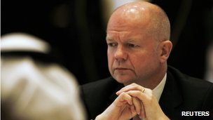 William Hague at the Manama dialogue on Friday