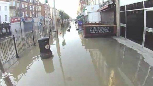 Flooding on Kilburn High Street