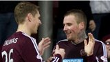 Hearts goalscorer Ryan Stevenson