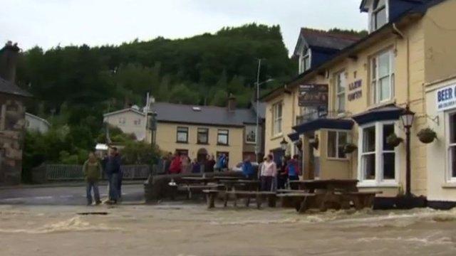 June's floods in Talybont, near Aberystwyth