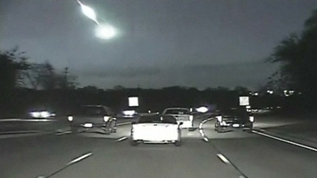 Fireball over motorway