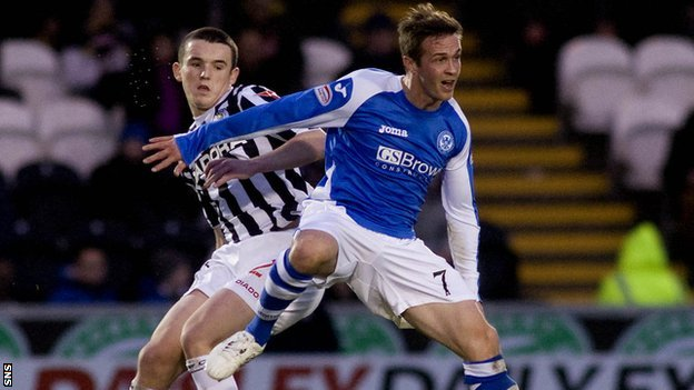 St Mirren's John McGinn and Chris Millar of St Johnstone