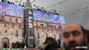 Model of Hamas rocket. 8 Dec 2012