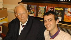 Sir Patrick Moore and Simon Whiteley