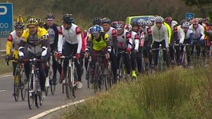 Cyclists in Cornwall