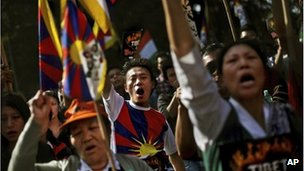 Exiled Tibetans in Delhi, India, file image