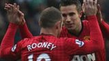 Manchester United's Wayne Rooney and Robin van Persie