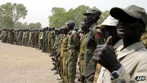 South Sudan army troops (file picture)