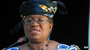 Nigerian finance minister Ngozi Okonjo-Iweala