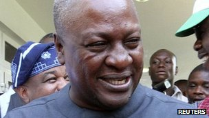 President John Mahama in Accra. 9 Dec 2012