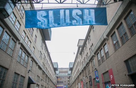 Slush conference sign