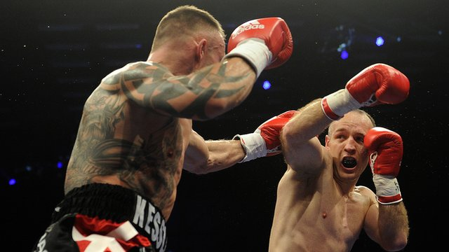 Mikkel Kessler in action against Brian Magee