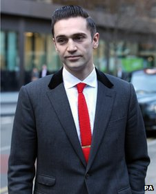 The boyfriend of late singer Amy Winehouse, Reg Traviss, arriving at Southwark Crown Court on 10 December
