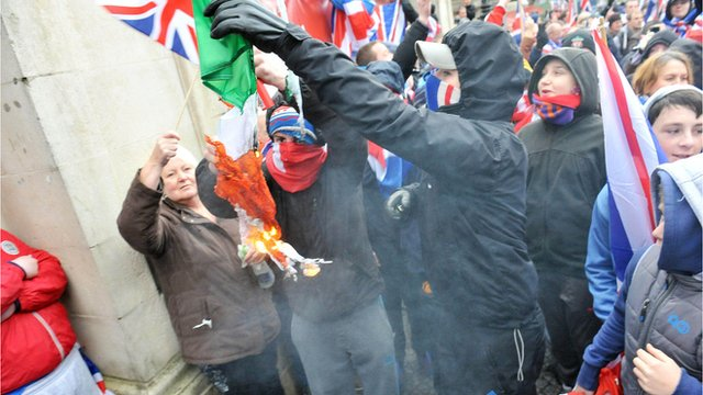 Loyalist rally at Belfast City Hall