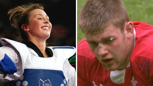 Jade Jones and Dan Lydiate