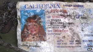 Jenni Rivera's California driver's license retrieved from the wreckage of the plane crash