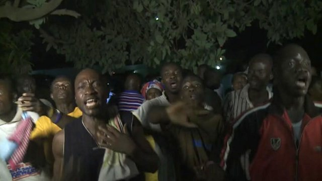 NPP supporters expressing anger at Mahama's victory