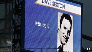 Tribute to Dave Sexton at Stamford Bridge