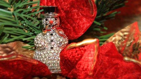 Estee Lauder crystal snowman