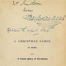 Charles Dickens' signed A Christmas Carol