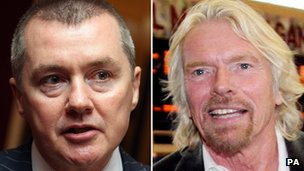 Willie Walsh and Sir Richard Branson
