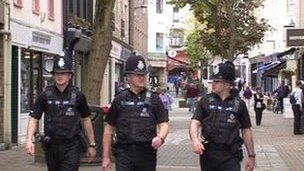 Jersey police on patrol