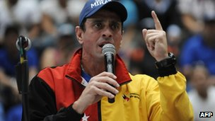 Henrique Capriles campaigning for the governorship of Miranda on 7 December