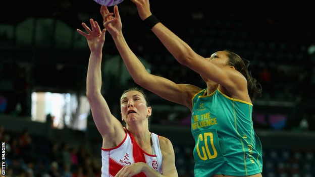 England v Australia netball