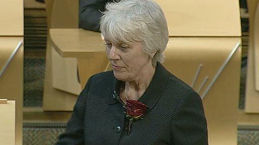 Jayne Baxter is sworn in as a Labour MSP