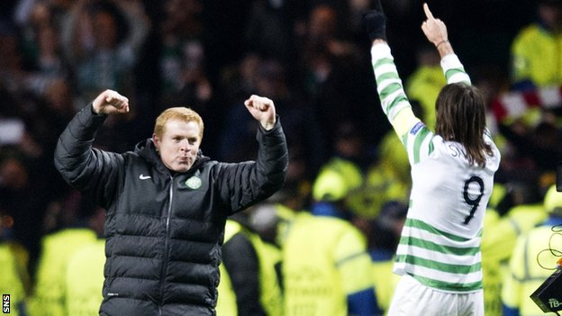 Neil Lennon and Giorgios Samaras