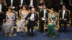 Back row, left to right, Princess Madeleine of Sweden, Prince Carl Philip of Sweden and Prince Daniel of Sweden and front row, left to right, Queen Silvia of Sweden, King Carl XVI Gustaf of Sweden and Crown Princess Victoria of Sweden