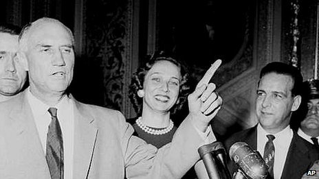 Strom Thurmond after his 24-hour filibuster in 1957