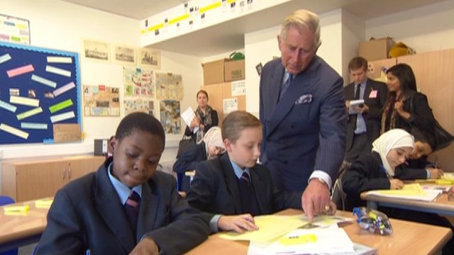 Prince Charles at Pimlico Academy