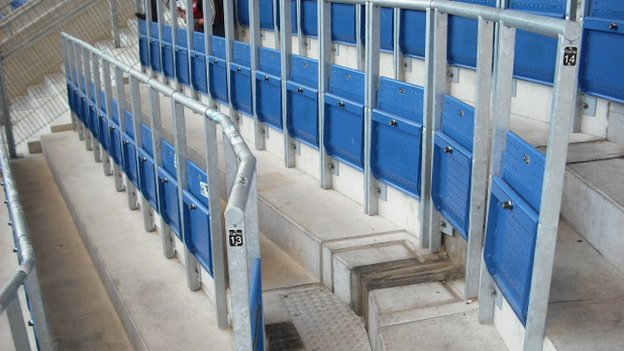 Example of safe standing areas