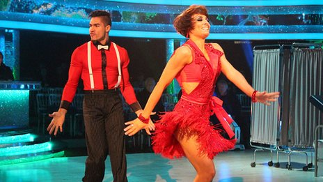 Louis and Flavia from Strictly Come Dancing