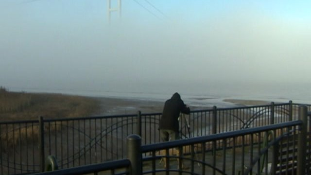 Photographer at the Humber Bridge