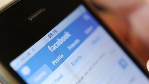 Facebook homepage on iPhone