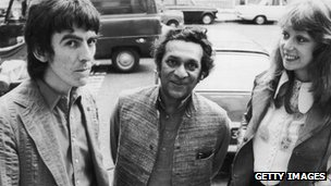 George Harrison, Ravi Shankar and Patti Boyd