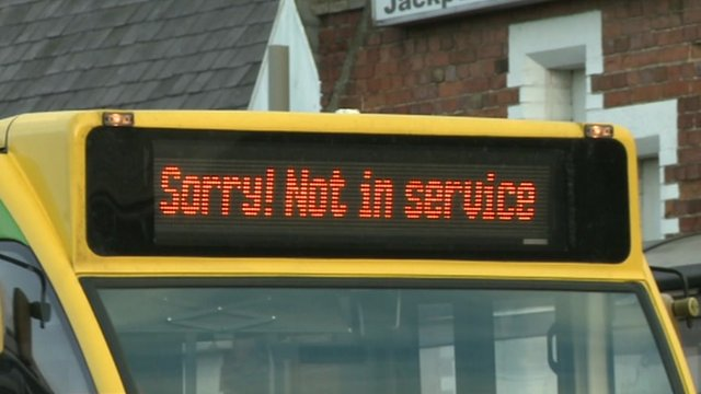 Out of service bus