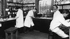 Pathology lab. Picture taken in 1925.
