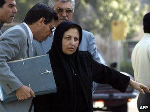 Abdolfattah Soltani and Shirin Ebadi