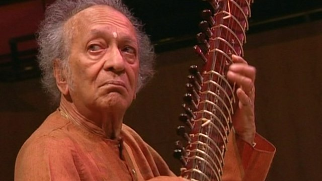 Ravi Shankar playing the sitar