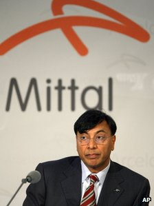 "Chairman of ArcelorMittal Lakshmi Mittal, the world""s largest steel producer"