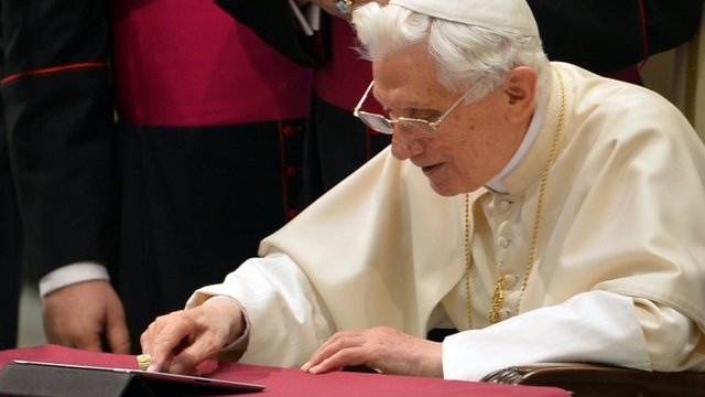 The Pope has posted his first message on his personal Twitter account.