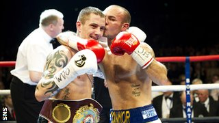 Ricky Burns and Kevin Mitchell