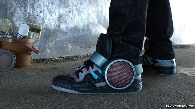 Sneaker speakers (copyright: Ray Kingston Inc)