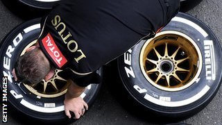 Lotus mechanic and tyres