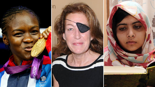 Nicola Adams, Marie Colvin, and Malala Yousafzai
