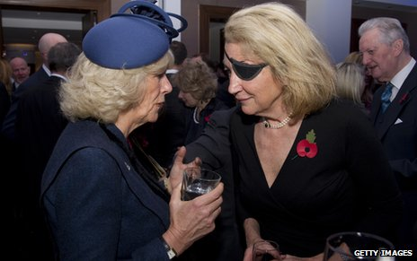 Marie Colvin talks to the Duchess of Cornwall