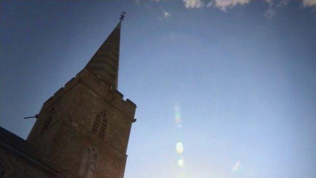 A church spire